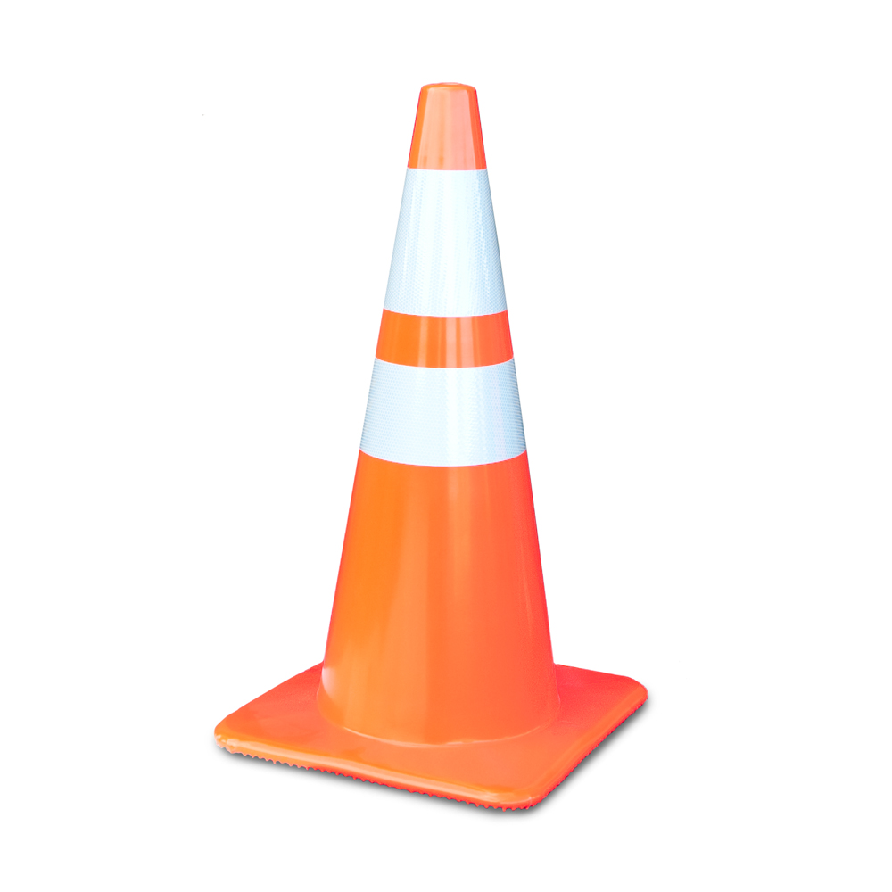 2850-7 MM = 28 Inch Traffic Cone With 6 And 4 Inch 3M Collar Lakeside Plastics