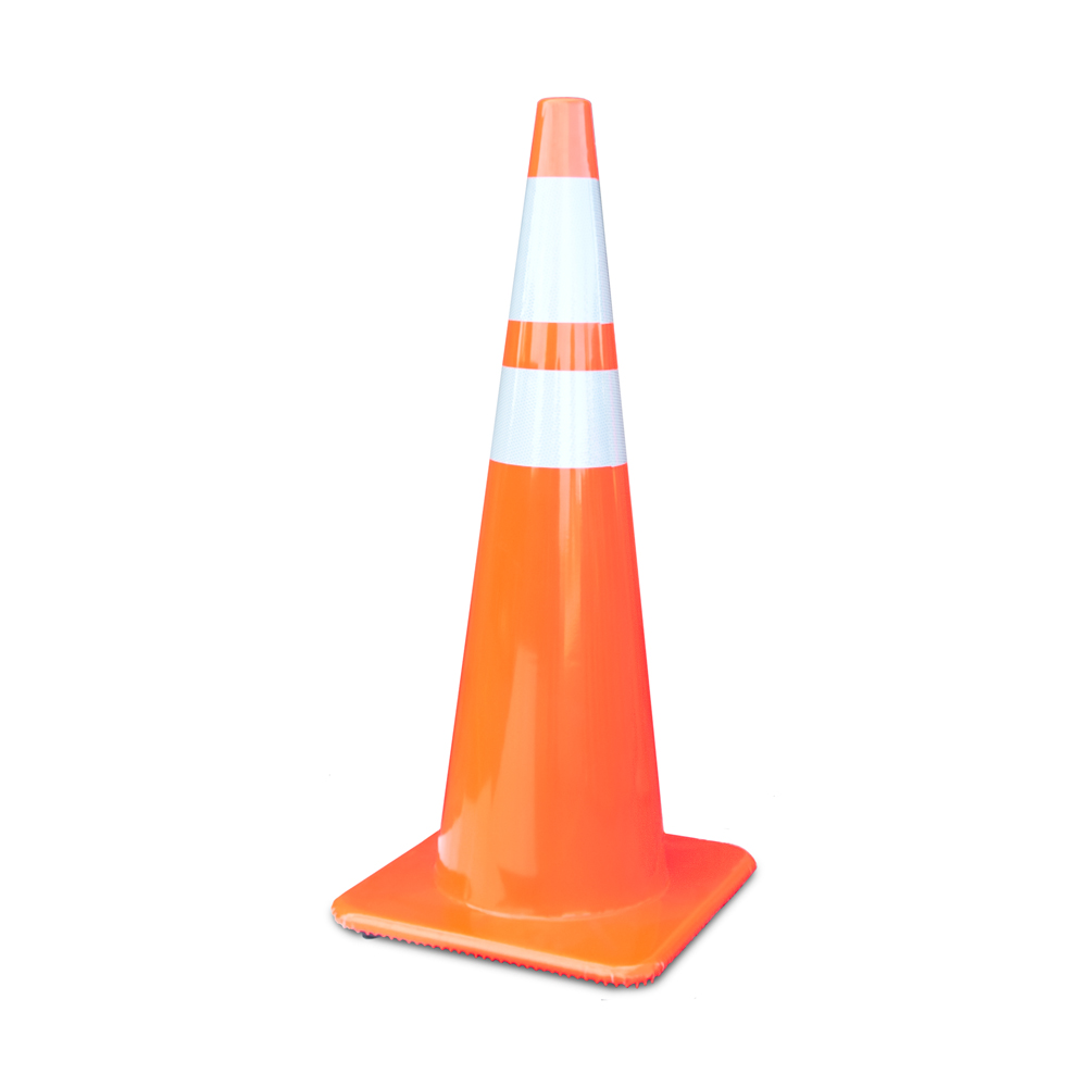 3650-10 MM = 36 Inch Traffic Cone With 6 And 4 Inch 3M Collar Lakeside Plastics